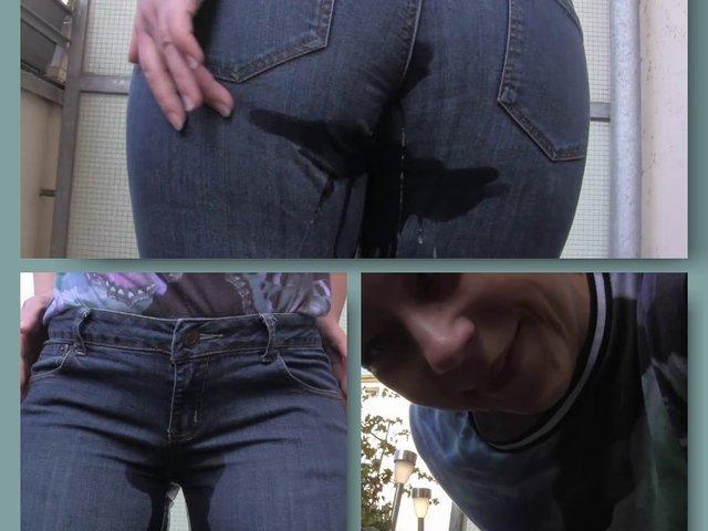 Frech in die Jeans gepisst