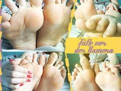 Füße vor der Kamera