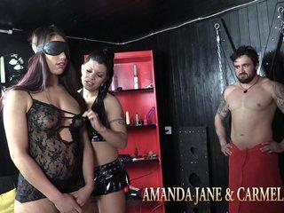 Amanda + Carmela, Gang-Bang Bi-Party mit 4 Gästen Teil 1 von 2