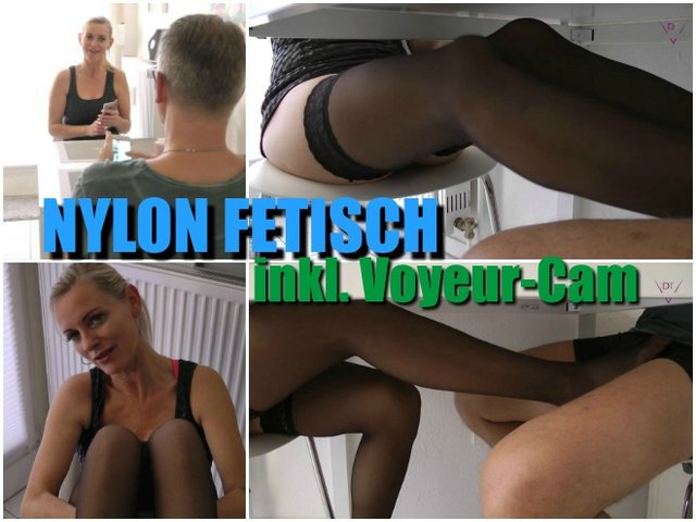 Nylon-Footjob I Inkl. Voyeur-Cam !