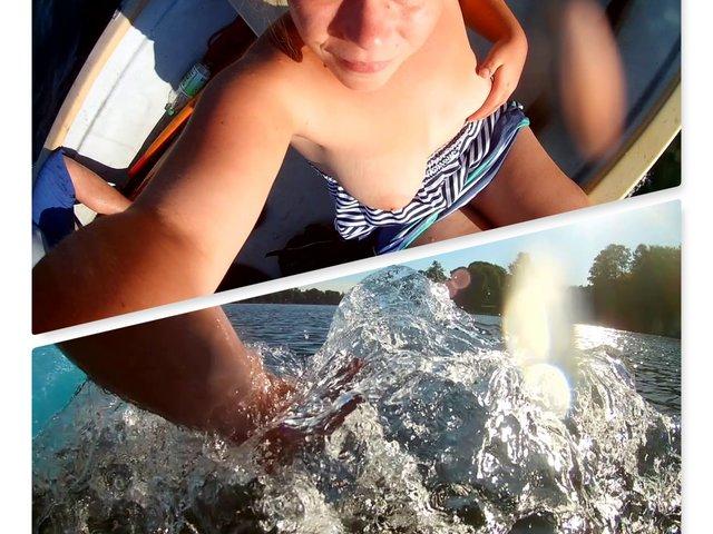 Nackt Blitzer auf dem Boot
