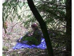 Spontan Fick im Wald