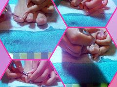 Füße und Nägel